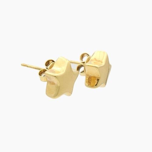 Pendientes en oro amarillo con forma de estrella - 8130