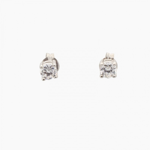 Pendientes de oro blanco y circonitas - 5641 - 1