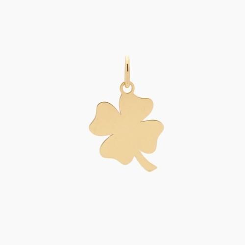 Colgante de oro en forma de trébol - 4635 - 1