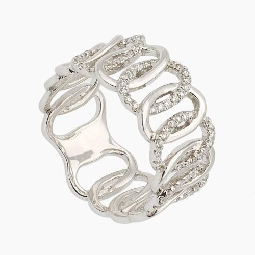 Sortija de oro y diamantes - B3144 - 1