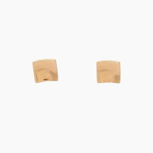 Pendientes cuadrados de oro rosa - 1101 - 1