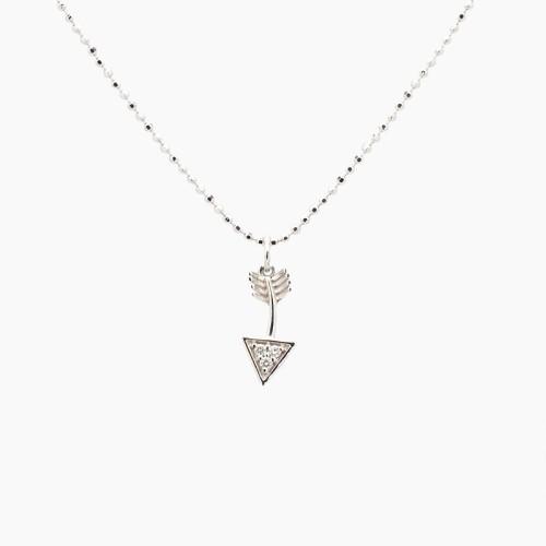 Gargantilla con forma de flecha con diamantes - 1