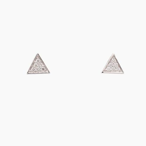 Pendientes triángulos con diamantes - 1