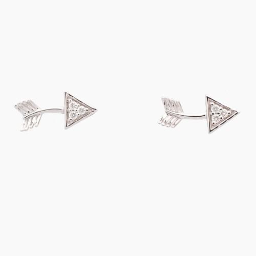 Pendientes flechas con diamantes - 2