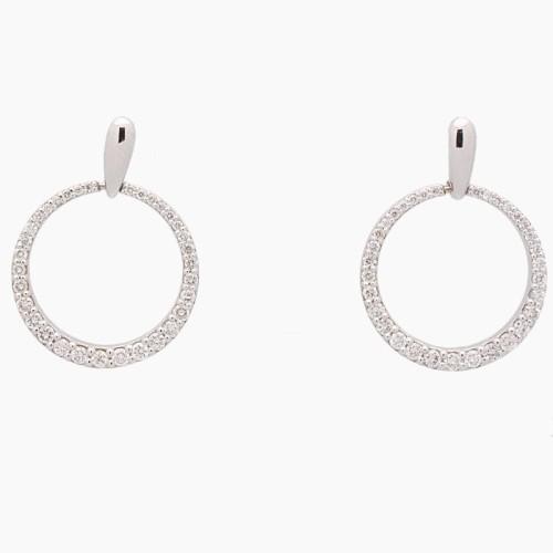 Pendientes de oro blanco y diamantes - 5030 - 1