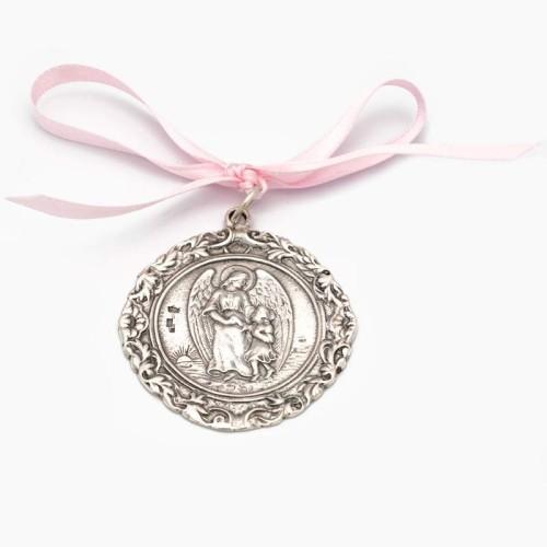 Medalla de cuna con Ángel de la Guarda - 1