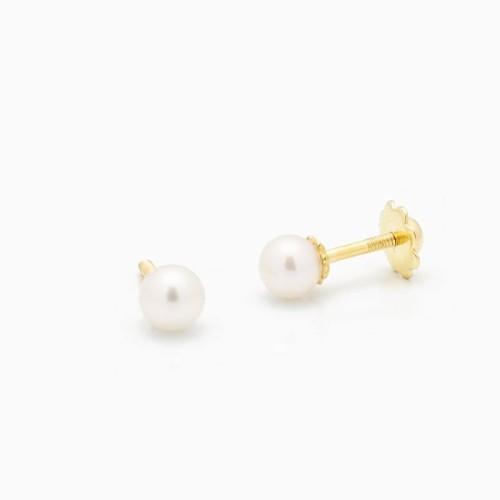 Pendientes de bebé con perlas cultivadas - 1