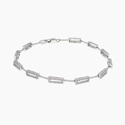 Pulsera en oro blanco y diamantes - 1