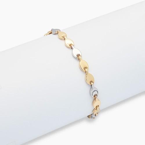 Pulsera articulada de oro bicolor - 1