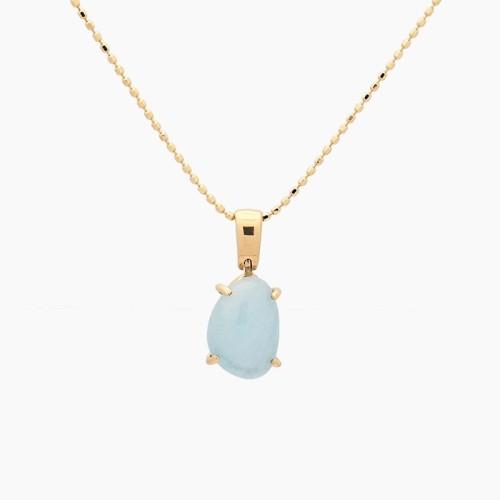 Colgante de oro amarillo y piedra azul - 1