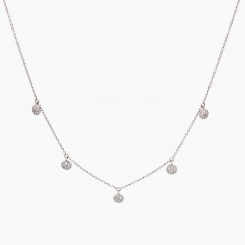 Gargantilla de oro blanco y diamantes - 1